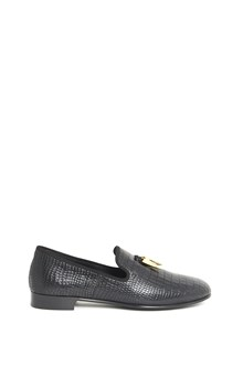 GIUSEPPE ZANOTTI DESIGN Leather mocassins with gold charms