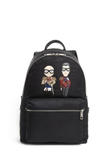 DOLCE & GABBANA 'Vulcano' nylon backpack with stylists patch