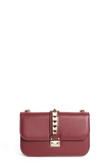 VALENTINO GARAVANI Medium calf leather 'Lock' shoulder bag