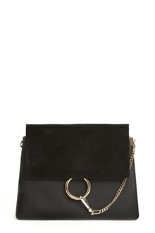 CHLOÉ ' Faye' smooth and suede calfskin medium bag