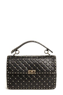 VALENTINO GARAVANI 'Spike' calf leather large  bag with studs all over