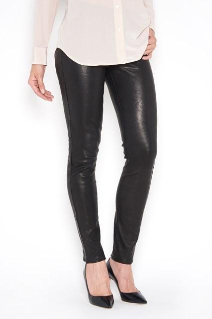J BRAND 'Maude' mid rise leather cigarette leggins