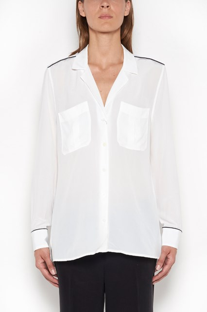 EQUIPMENT 'Sonny' silk pajamas shirt