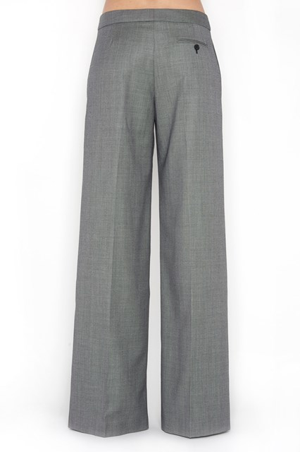ALEXANDER MCQUEEN Wool black and white wide leg pants with pockets