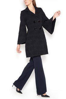 CHARLOTT All over rose embroidered coat with buttons closure