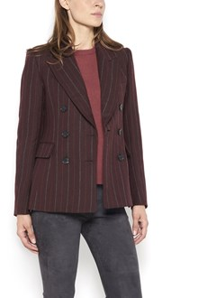 ISABEL MARANT 'Kelsey' double breasted striped jacket with buttons closure