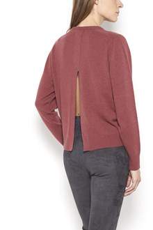 ISABEL MARANT 'Clash' cashmere crew-neck pullover with back split