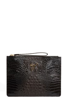 GIUSEPPE ZANOTTI DESIGN coco printed leather clutch with gold logo