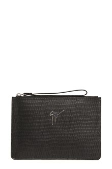 GIUSEPPE ZANOTTI DESIGN 'Cocco' printed leather clutch with logo