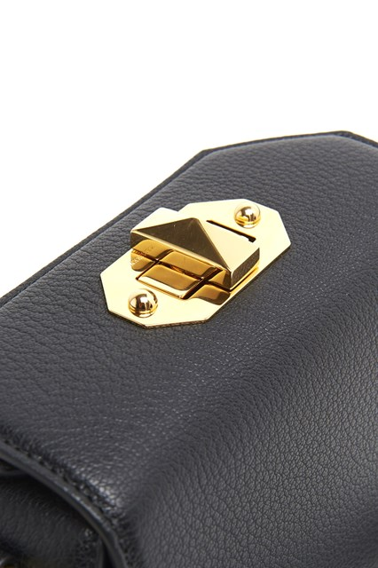 ALEXANDER MCQUEEN Leather clutch with double shoulder strap