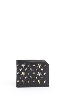 JIMMY CHOO 'Albany' star studded leather wallet
