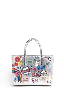 ANYA HINDMARCH 'Ebury' small leather handbag  with all over stickers