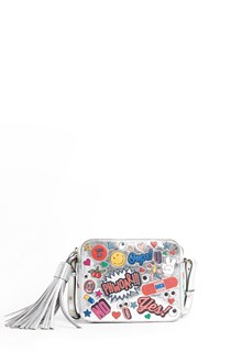 ANYA HINDMARCH crossbody all over wink stickers metallic capra bag