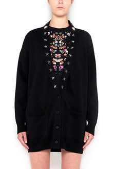 GIVENCHY Cardigan with studs and stars on roundneck