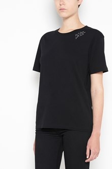 SAINT LAURENT T-shirt with 'Je t'aime' print on roundneck