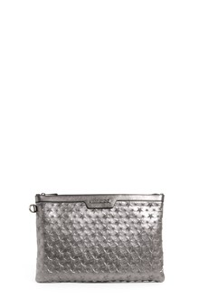JIMMY CHOO 'Derek' metallic leather clutch with stars