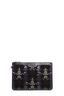 JIMMY CHOO 'Derek' leather clutch with velvet stars