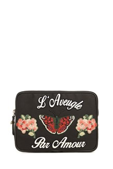 GUCCI Zipped laptop with butterfly patch in front