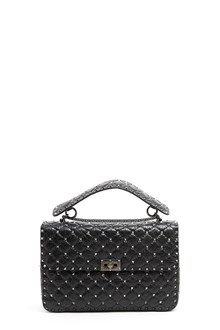 VALENTINO GARAVANI Large calf leather shoulder bag with studs all over