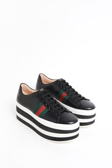 GUCCI 'Peggy' Leather platform sneaker