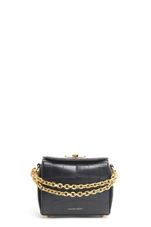 ALEXANDER MCQUEEN Clutch in goat leather with detachable strap