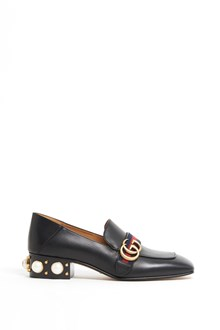 GUCCI 'Payton' leather loafers with pearls