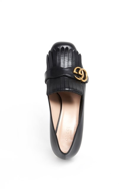 GUCCI 'Marmont' leather mid-heel pump