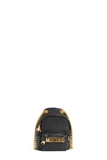 MOSCHINO mini 'backpack' shoulder bag with zip,chain and logo