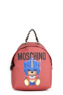 MOSCHINO Bear and logo printed backpack with chain