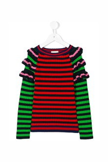 GUCCI Striped multicolor sweater with rouches