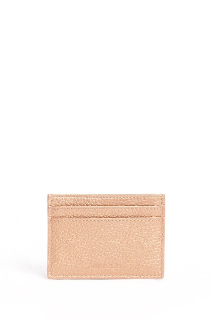 JIMMY CHOO Leather pearly metallic with crystal stars wallet