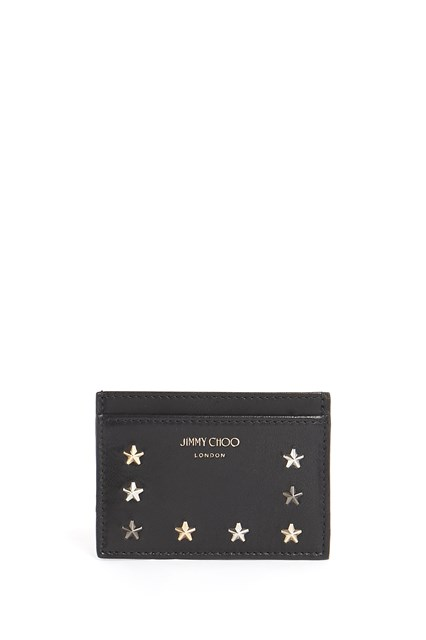 JIMMY CHOO Leather cardholder with stars