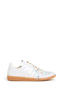 MAISON MARGIELA 'Replica'  leather sneakers with paint drops effect
