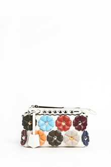 FENDI 'By the way' mini leather bag with multicolor flower applications