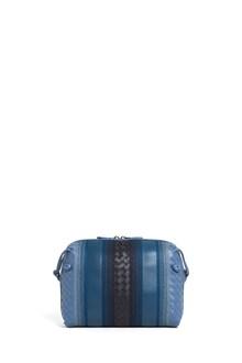 BOTTEGA VENETA Small leather shouder bag with intelaced leather details