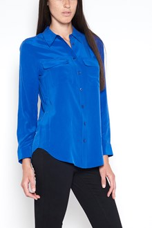 EQUIPMENT 'Slim signture' silk shirt with double pockets