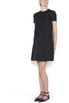 VALENTINO ' Scallop' dress with studs