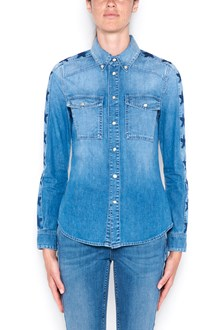 GIVENCHY denim shirt with stars on sleeves