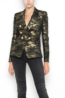 BALMAIN Camouflage printed  six buttons tailleur jacket