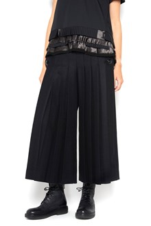 SACAI Wide pleated wool high waist pants