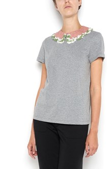 VALENTINO 1/2 sleeves t-shirt with sequinned neckband