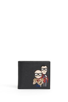 DOLCE & GABBANA 'Billfold' leather wallet with stylists patch