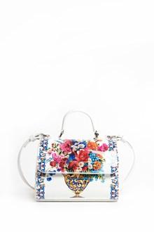 DOLCE & GABBANA Mini 'Miss Sicily' patent leather bag with 'flower jar  ' print