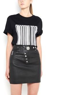 ALEXANDER WANG 'Barcode' printed cotton 1/2 sleeves t-shirt
