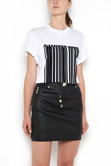 ALEXANDER WANG Cotton 1/2 sleeves t-shirt with velvet 'Barcode' patch