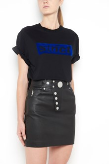 ALEXANDER WANG Cotton 1/2 sleeves t-shirt with 'Strict' velvet patch