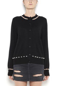 GIVENCHY Cardigan with pearls on roundneck and hem and buttons closure