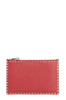 VALENTINO GARAVANI Calf leather 'Rockstud' clutch