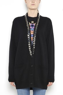 GIVENCHY long cardigan with chain on v-neck