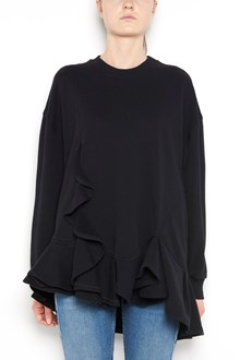 GIVENCHY cotton  sweater with rouches and long sleeves